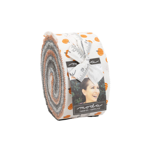 halloween fabrics in a jelly roll